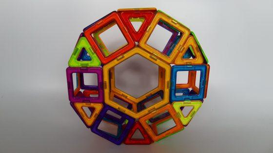 צעצוע בלוקי מגנטים - גלגל ענק