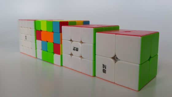 A series of cubes by a Moyu company